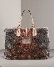 Rose Tote, Medium -  Neiman Marcus :  pink ring tab rose tote vakentino