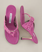 Fuchsia sandals from Manolo Blahnik