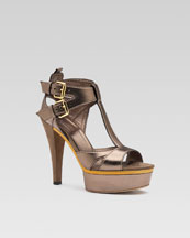 Iman T-Strap Sandal- Neiman Marcus :  platform designer platforms sexy
