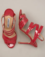 Red Patent Sandals from Manolo Blahnik    Manolo Likes!  Click!