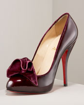 Fab Everyday fashion: Christian Louboutin Lady Page Velvet-Bow Pump