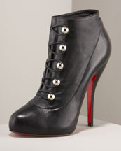 X0D57 Christian Louboutin Fifre Leather Ankle Boot