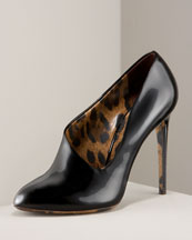 Asymmetric Bootie -  Neiman Marcus :  pointed toe shoes boots patent