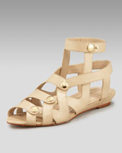 Loeffler Randall Flat Leather Sandal