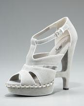 Yves Saint Laurent-Essentiel 105 Sandal-Neiman Marcus :  blue platform sandal suede