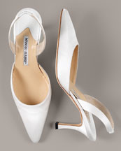 Carolyne Halter Pump by the Maestro Manolo Blahnik.   The Shoeblogger Adores!  Click!
