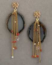 Agate Earrings -  Neiman Marcus :  beads stephen dweck gold earrings