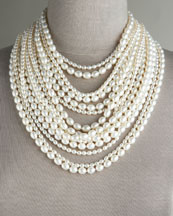 16-Strand Pearl Necklace -  Neiman Marcus from neimanmarcus.com