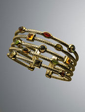Confetti Tsavana Cuff - Neiman Marcus :  bracelet tourmalines yurman confetti
