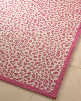 Pink Leopard Print Rug Home Decor