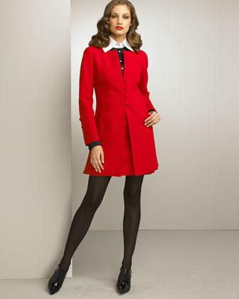 Valentino Swing Jacket & Slim Skirt- Valentino- Neiman Marcus