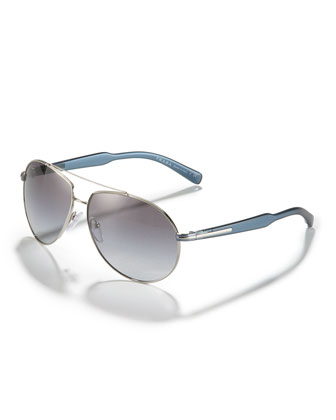 Plastic-Arm Aviator Sunglasses