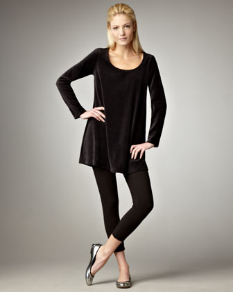 tunic with leggings and flats