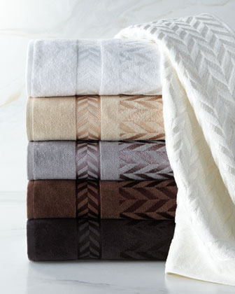 Chevron Jacquard Towels