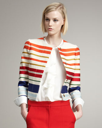 Striped Sateen Jacket