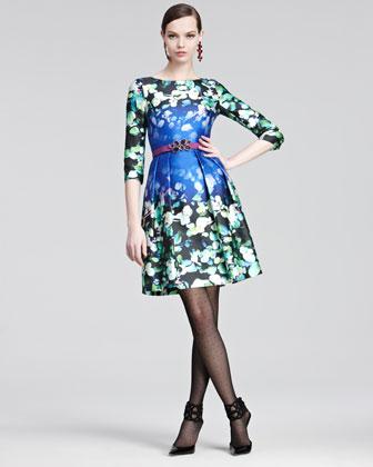 Oscar de la Renta floral dress