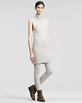 Sleeveless Turtleneck Dress