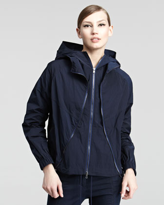 Hooded Taffeta Jacket