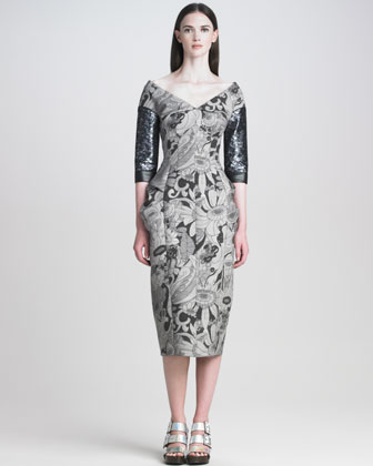 Cartoon-Flower Printed Dress