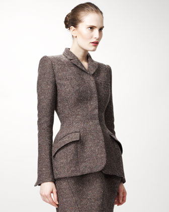 Tailored Jacket with Peplum Shape