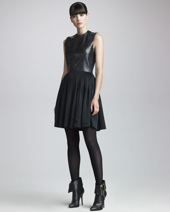 Leather-Bodice Dress