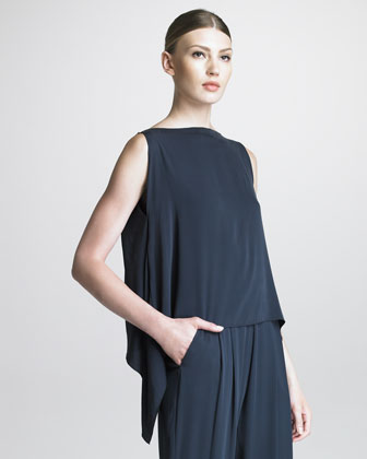 Draped-Back Top