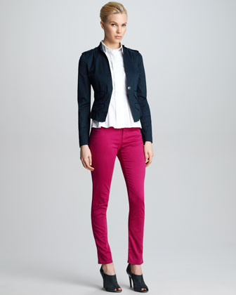 Five-Pocket Slim Jeans, Raspberry