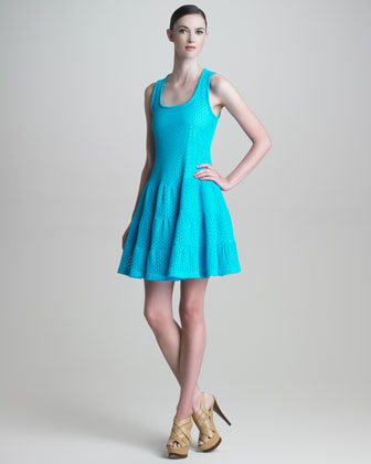 Netted A-Line Dress