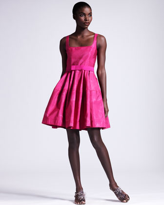 Ombre Orchid Faille Dress