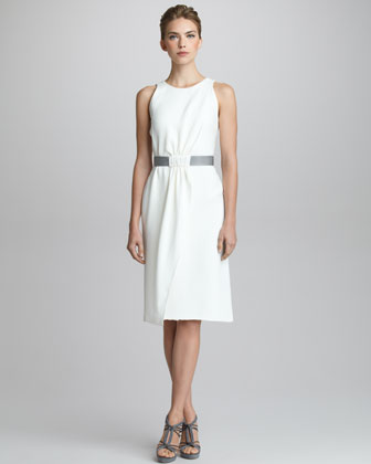 Silk Cady Sleeveless Dress