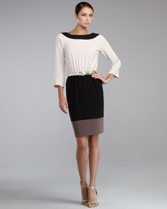 Luxe Crepe Colorblock Dress