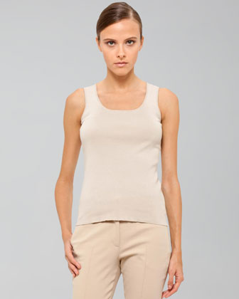 Stretch Cotton Knit Tank, Cordage