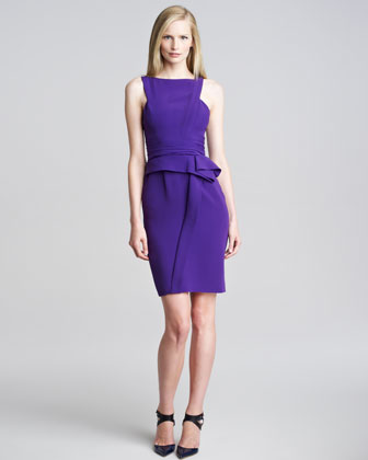 Asymmetric Peplum Dress