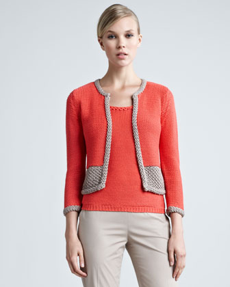 Two-Tone Crochet Cardigan