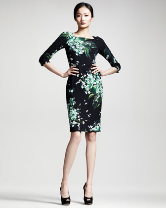 Lily of the Valley Print Dress