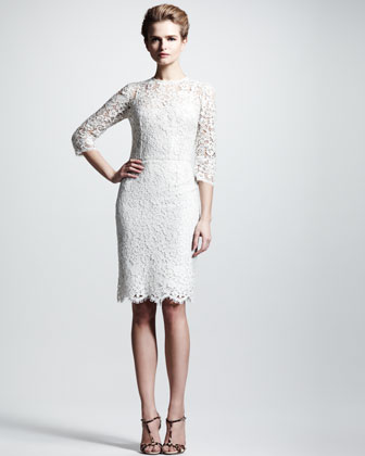 Three-Quarter Lace Dress