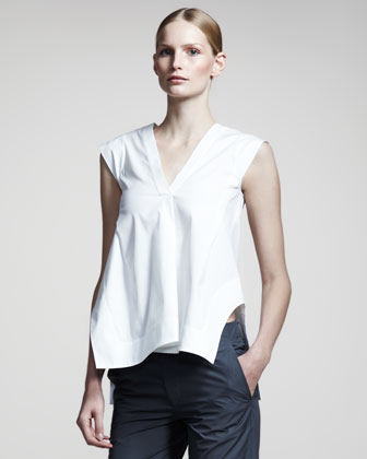 Noce Sleeveless Tunic, White