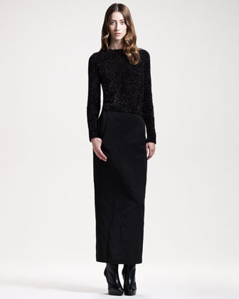 Long Faille Skirt