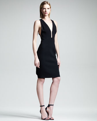 Slim V-Neck Dress