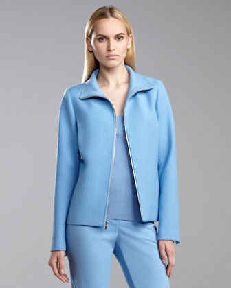 Tropical Double-Faced Neru Jacket, Amalfi Blue