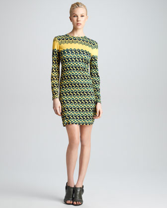 Honeycomb-Print T-Shirt Dress