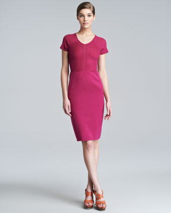 Stretch-Silk Knit Dress