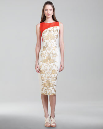 Baroque Jacquard Dress