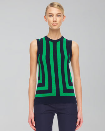 Striped Cashmere Shell