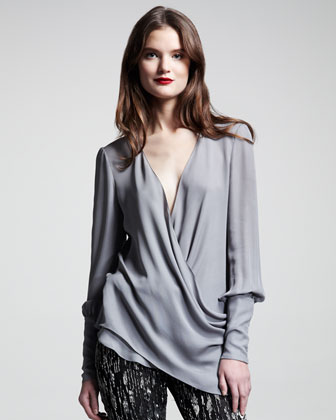 Georgette Wrap Blouse