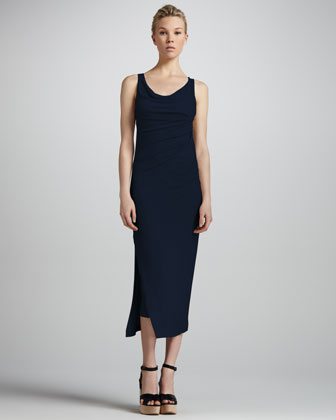 Layered Linen Tank Dress