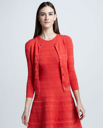 Lace Detailed Cardigan, Coral