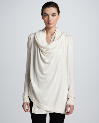 Hooded Cashmere Cozy, Vellum