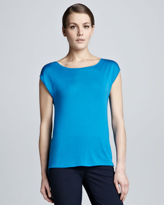 Fine-Gauge Silk Top
