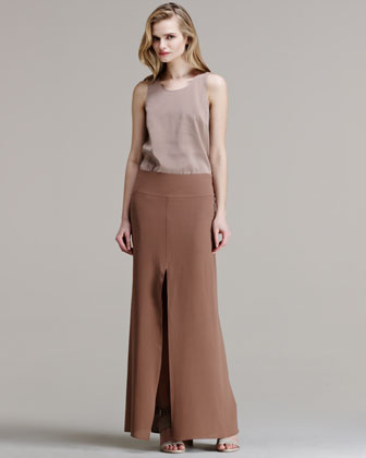 Silk Crepe Mermaid Maxi Skirt